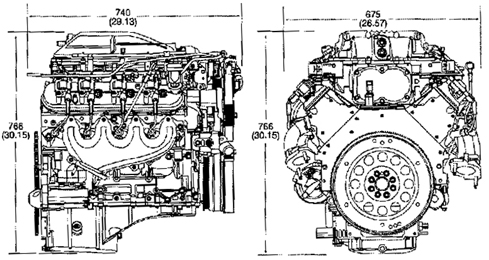 P 3990 Engine Dimensions