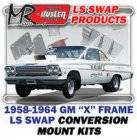 LS Engine Swap Kits - 1958-64 Chevy Bel Air, Biscayne & Impala LS Engine and Trans Conversion Mount Kits