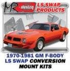 LS Engine Swap Kits - 1970-81 GM F Body 2nd Gen LS Engine and Trans Conversion Mount Kits