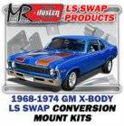 LS Engine Swap Kits - 1968-74 GM X Body LS Engine and Trans Conversion Mount Kits