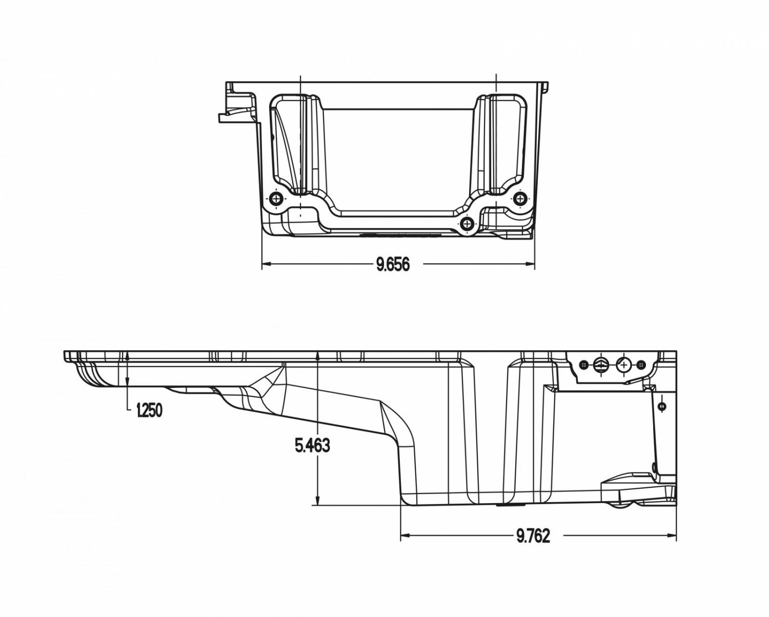 GMP-302-2K Complete low Profile Holley LS Retro-Fit Oil Pan