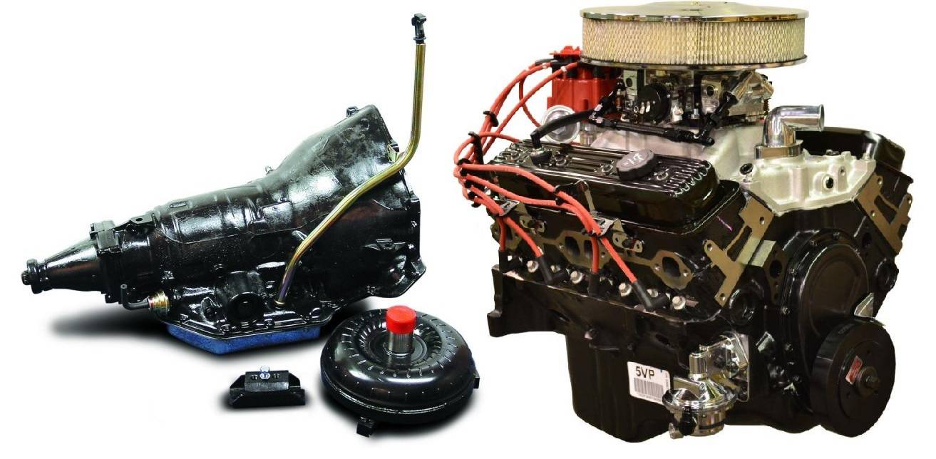 chevy 350 engine and transmission package