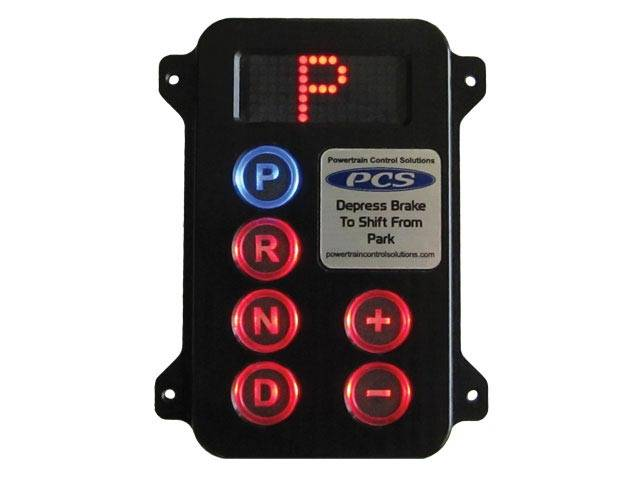 pcsa gsm2100 black anodized push button shifter remote. Black Bedroom Furniture Sets. Home Design Ideas