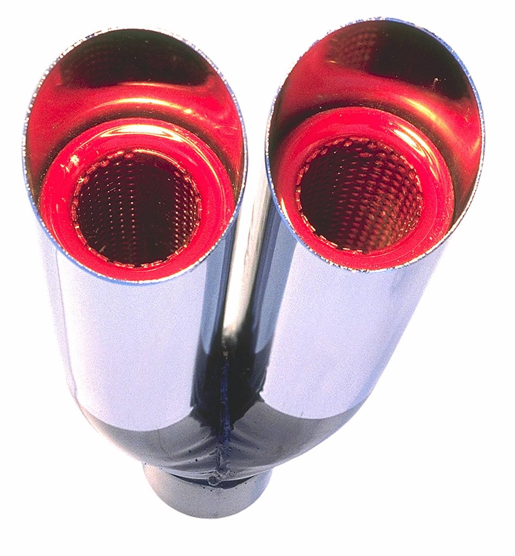 HD17104 - Hedman Hedders Dual Resonator Hot Tips Exhaust Tip