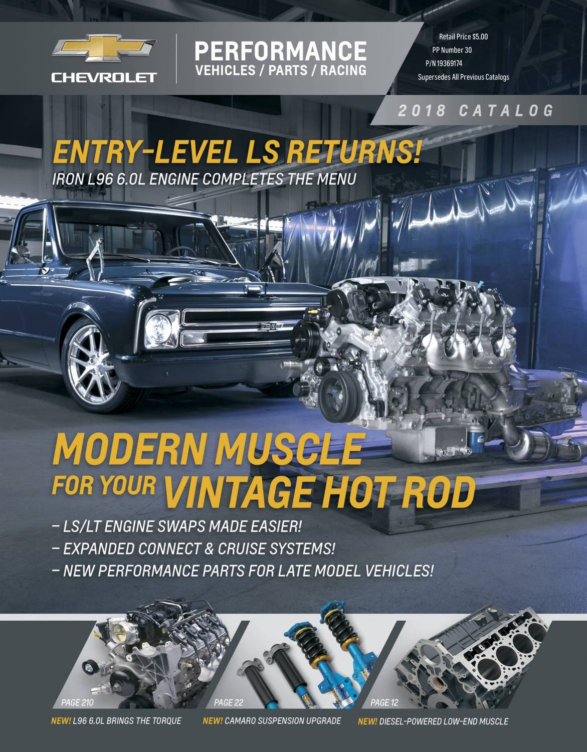 19369174 - 2018 Chevy Performance Catalog Chevrolet Performance Parts