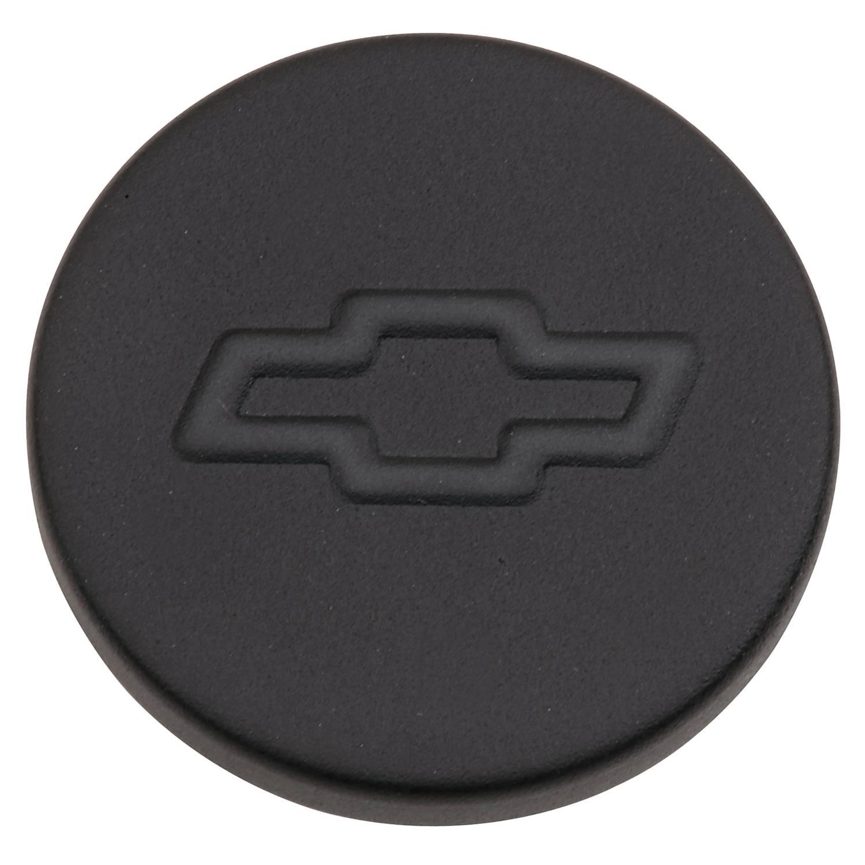 141629 - Black Crinkle Push-In Oil Filler Cap with Bowtie Emblem