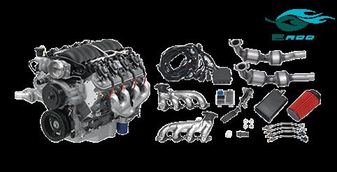 chevrolet performance parts - 19370414 - gm ls3 6 2l gen iv e-rod engine  package (automatic transmission)