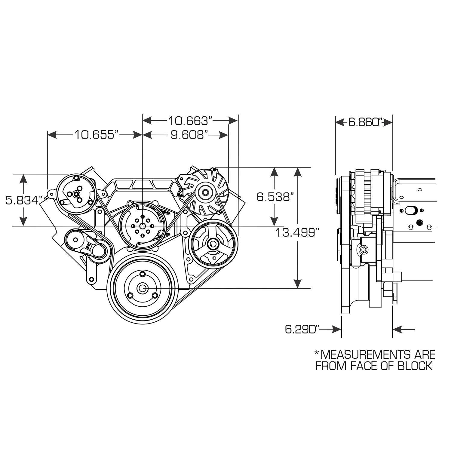 [SCHEMATICS_4LK]  Front Runner™ Drive System BBC Black/Chrome with Alternator, A/C and Power  Steering Vintage Air 172023 | Vintage Air Alternator Wiring Diagram |  | Pace Performance