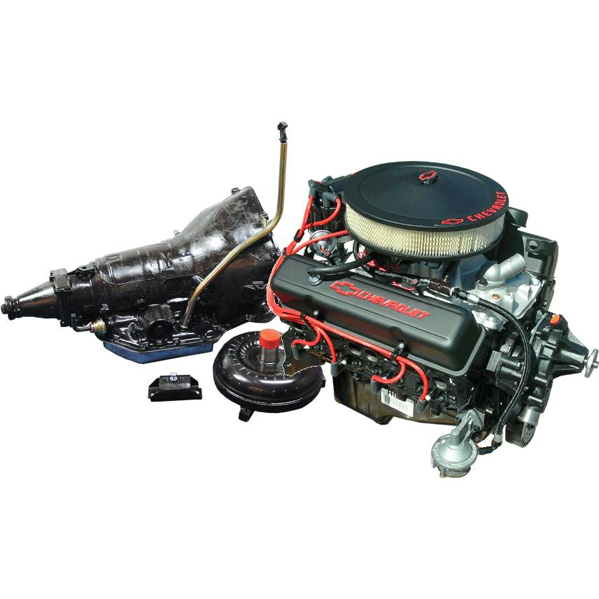 12499529 Pace SBC 350 290HP Black Trim Turnkey Engine with TH350