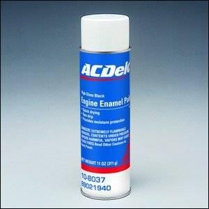 89021940 - GM/AC Delco High Gloss Black Spray Paint - 11 ...