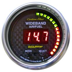 AutoMeter - AutoMeter Carbon Fiber PRO Wideband Air Fuel Ratio Gauge 4778
