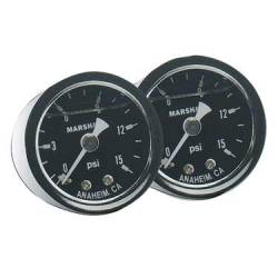 Fragola - FRA - FRA900002 - Fragola Fuel Pressure Gauge - 0-15 psi, Liquid Filled