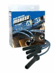 "Moroso Performance - MOR73826 - Moroso Ultra 40 Race Wire Custom Fit Set - GM LS Series, Coil-On-Plug, Straight, Long (12""), Sleeved, Black"