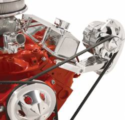 Billet Specialties - BSP10420 - Billet Specialties Bracket - Alternator Side Mount V-Groove SBC Short Water Pump