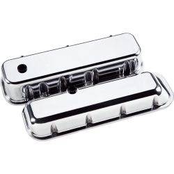Billet Specialties - BSP96129 - Billet Specialties Aluminum Valve Covers, BBC, Plain, Tall Style