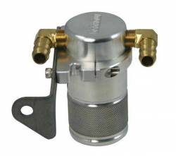 Moroso Performance - MOR85640 - Air-Oil Separator Small Body, Polished, Chrysler 5.7 with Aftermarket Intake, See Details for Complete Applications