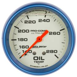 AutoMeter - AutoMeter Ultra-Nite Oil Temperature Gauge 4241