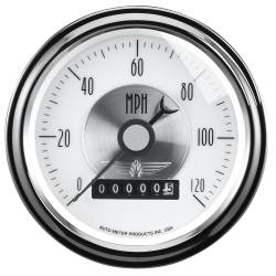 AutoMeter - AutoMeter Prestige Series Pearl Electric Programmable Speedometer 2085