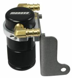 Moroso Performance - MOR85613 - Air-Oil Separator Small Body, Chrysler 300C, Dodge Challenger, Charger, Magnum, Black Anodized, See Details for Complete Applications