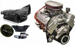 PACE Performance - GMP-4L80EZZ427-4X - Pace Prepped & Primed ZZ427 505HP Dual Quad Crate Engine with 4QT Muscle Oil Pan & 4L80E Transmission Package