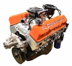 PACE Performance - BP38313CT1-5FX - Pace Fuel Injected SBC 383/430HP EFI Crate Engine with Orange Trim