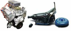 PACE Performance - GMP-700R4BP355-6 - Pace SBC 355CID 390HP Holley Tri-Power Crate Engine with 700R4 Trans Combo