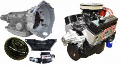 PACE Performance - GMP-4L70EBP355-2F - Pace Fuel Injected SBC 355CID 390HP EFI Black Finish Crate Engine with 4L70E Trans Combo