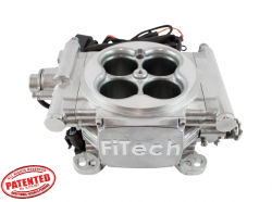 FiTech Fuel Injection - FTH-30001 - FiTech Fuel Injection Go EFI 4 600HP Silver Finish Basic Kit