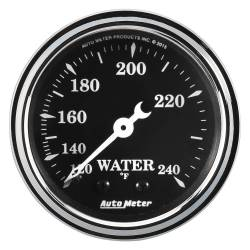 AutoMeter - AutoMeter Old Tyme Black Mechanical Water Temperature Gauge 1733