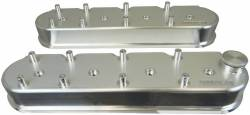 Moroso Performance - MOR68470 - ALL Billet Aluminum Valve Covers, 2.5 Inches Tall with coil mounts, GM LS Series