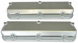 Moroso Performance - MOR68475 - Fabricated Aluminum Valve Covers, Billet Rail, Ford 302/351W