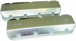 "Moroso Performance - MOR68484 - Fabricated Aluminum Valve Covers, Billet Rail, 3"" Tall, Bordix SR20-Dart Pro1 20 Deg. Cylinder Heads, Notched for Dirt Late Model Applications"