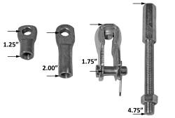 Tuff Stuff Performance - Tuff Stuff Performance Brake Booster Extension Rod And Clevis Kit 4750