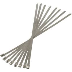 "Heatshield Products - HSP350008 - Thermal-Tie Stainless Steel  ""Zip Ties"" - For Fastening Heat Wrap Etc. 3/16"" Wide,  8"" Long, 8 Pieces"