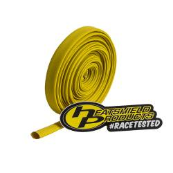 "Heatshield Products - HSP203123 - Colored Sleeving - 25' Roll, Adjustable Inside Diameter:1/4"" To 7/16"" - Withstands 1200 Degrees F Continuous - Yellow"