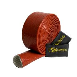 "Heatshield Products - HSP210019 - Red Hot Sleeving - 1-1/4"" ID X 10' Red Silicone Coating Withstands 450 F Continuous"