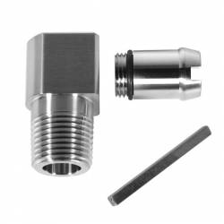 "Performance Stainless Steel - PSS1075-P - Performance Stainless Steel 90 degree Heater Hose Fitting - 1 3/4"" Length"