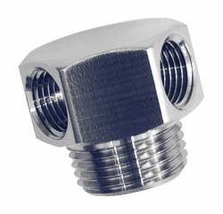 "Performance Stainless Steel - PSS1042 - Vacuum Fitting, 3/8"" Pipe With 2 Internal Pipe Ports"