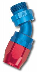 Russell - Russell Full Flow Swivel Hose End 45 Deg. Swivel Dry Sump Hose End 612423