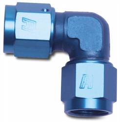 Russell - Russell Specialty AN Adapter Fitting 90 Deg. Female AN Swivel To Female AN Swivel-Low 614503