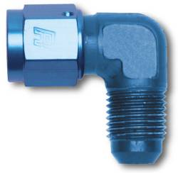 Russell - Russell Specialty AN Adapter Fitting 90 Deg. Female AN Swivel To Male AN 614806