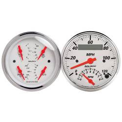 AutoMeter - AutoMeter Arctic White Quad Gauge/Tach/Speedo Kit 1309