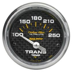 AutoMeter - AutoMeter Carbon Fiber Electric Transmission Temperature Gauge 4757