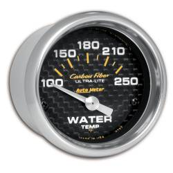 AutoMeter - AutoMeter Carbon Fiber Electric Water Temperature Gauge 4737