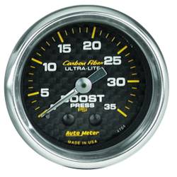 AutoMeter - AutoMeter Carbon Fiber Mechanical Boost Gauge 4704