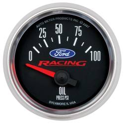 AutoMeter - AutoMeter Ford Racing Series Electric Oil Pressure Gauge 880076