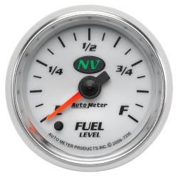 AutoMeter - AutoMeter NV Electric Programmable Fuel Level Gauge 7310
