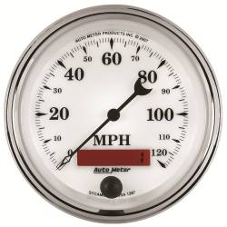 AutoMeter - AutoMeter Old Tyme White II In-Dash Electric Speedometer 1287