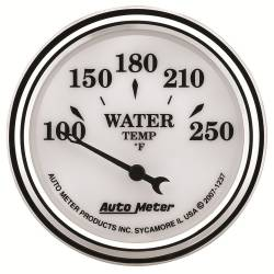 AutoMeter - AutoMeter Old Tyme White II Water Temperature Gauge 1237
