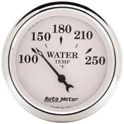 AutoMeter - AutoMeter Old Tyme White Electric Water Temperature Gauge 1638